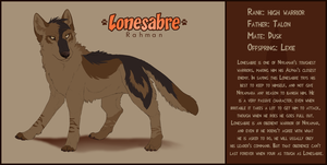 Lonesabre referance by DawnFrost
