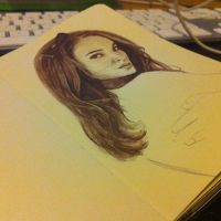 Natalie Portman #Sketchbook by dankershaw