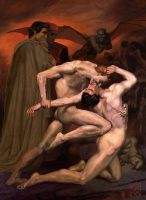 William Bouguereau, Dante et V by ElChief