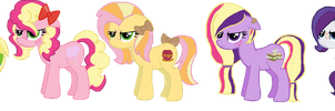 Applejack X Mane Six OC's. by MargaretLovez