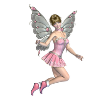 Pink Fairy 01 PNG Stock by Roys-Art