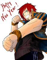 Fight for a Happy New Year by 0guri