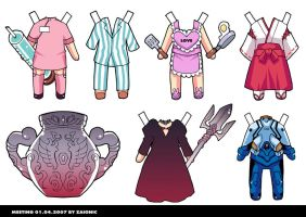 Clothes Paper Doll Set2 by zaionic