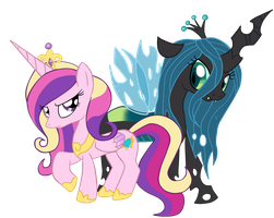 .:Princess Cadence and Queen Chrysalis:. by Lord-Hon