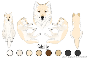 Paypal Commision- Wolf 1- Cream by LadyLirriea