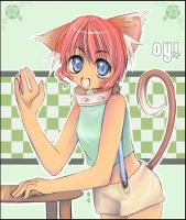 Random Neko Girl WHEEE by mitsuu