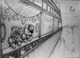 On a cruise ship by unitoone