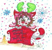 Miss Kitty for 2013 Christmas by Kittychan2005
