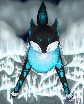 Thunder Wolf|Art Contest by quatrus5301