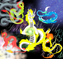 The five weather dragons by fableworld