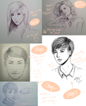 Sketches by uQsia
