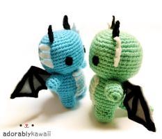 Baby Dragons Amigurumi by adorablykawaii