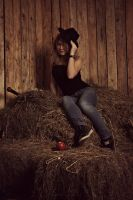In a haystack. by RayScream