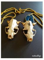 Cubone and Alolan Marowak Necklaces