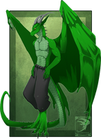 Comish - Green is the New Black by TwilightSaint
