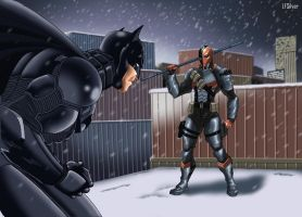 Batman Vs Deathstroke by LFSilver