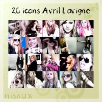 20 Avril lavigne icons by nishux