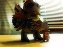 Chibi BumbleBee with Raph - Noir coloring by wulongti