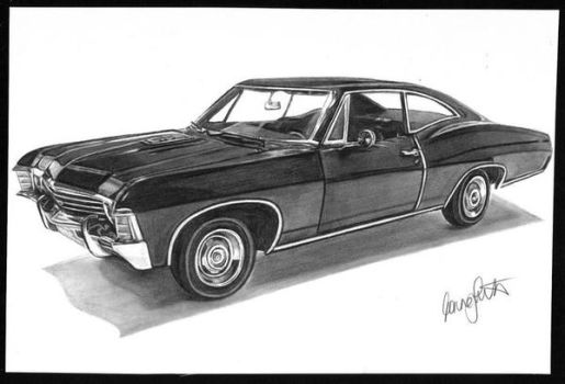 Supernatural Impala by girlinterruptedbyart