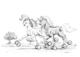 Commission: Rolling along by Baron-Engel