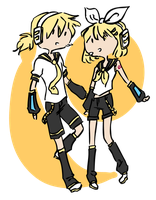 Rin and Len by ratopiangirl