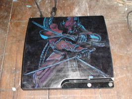 custom PS3 Yoshimitsu paint job by thesekininja