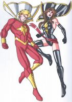 Captain Marvel and Ms Mary Marvel by RobertMacQuarrie1