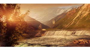 Place for daydreaming - matte painting by GeneRazART