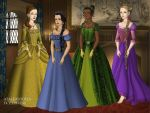 Disney Princesses 3 Tudor Style by TFfan234