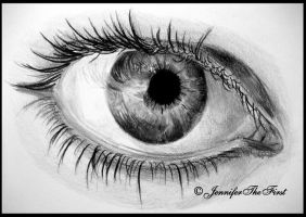 Black and White Eye by JenniferTheFirst