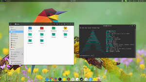 Arch linux - Numix theme w/ transparency by sash239