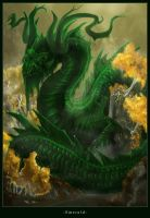 Emerald Dragon by Majungatholus