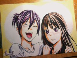 Yato and Hiyori : Let me introduce my new wife by kazukizein