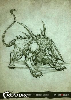 Creature Design Sketch 05 by castortroy3497