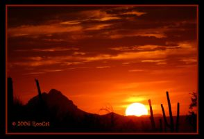 June Desert Mountain Sunset by RooCat