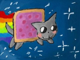 Nyan Cat on Art Academy by Quacksquared