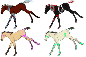 Lace Foal Adopts - CLOSED by Waffle--Saurus