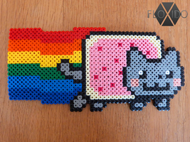 Nyan Cat - Hama beads by floxido