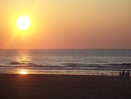 Sunset at the beach I by Calime83