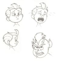 Toddler Jack-Jack faces by PixarVixen