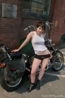 Babe And A Bike I by rjcarroll