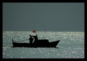 lonely fisher by smrdncr