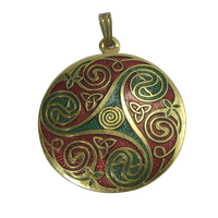 Gold Red And Green Pendant png by Adagem