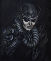 HR Giger's Spider Queen by Morphera
