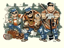 Beagle Boys to Ashcan All-Stars by AZEITONA