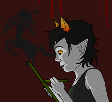 Moonbound 2.2 Nepeta: Answer your moirail. by Keyhole-Cat