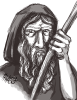 Daily Sketch - Father Time by cactuarZrule