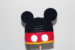 Mickey Mouse Crochet Hat by RaindropMelody