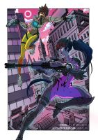 Widowmaker and Tracer - Overwatch by thunderalchemist18