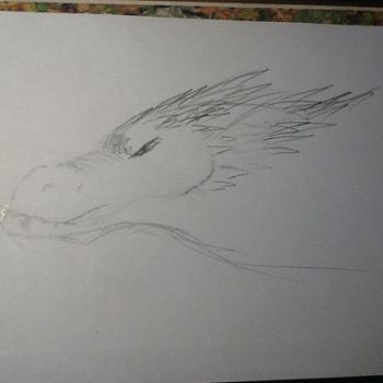 Smaug head sketch (request for Alexbee1236) by Doodlingmonster